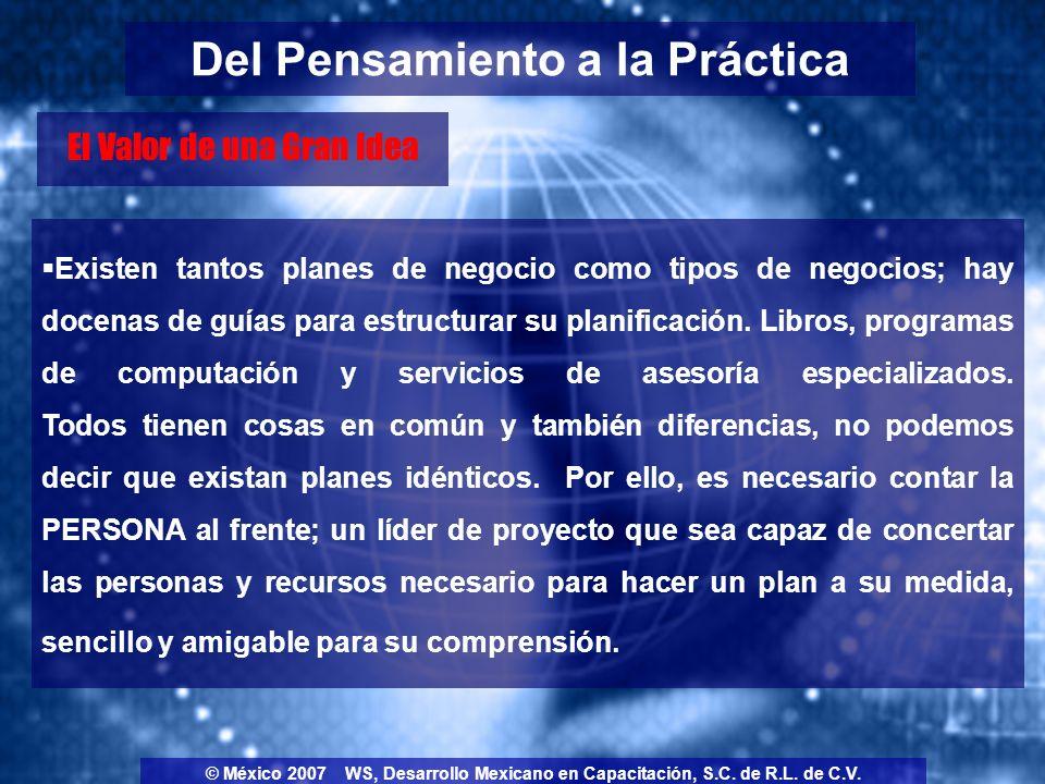 Un Plan de Negocio no está escrito en piedra, por lo que si es necesario hay áreas que pueden agregarse o eliminarse, y lo serán.