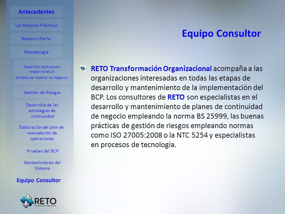 RETO Transformación Organizacional acompaña a las organizaciones interesadas en todas las etapas de desarrollo y mantenimiento de la implementación de