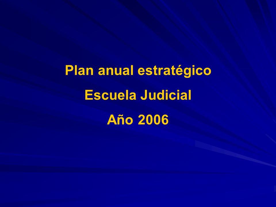 Plan anual estratégico Escuela Judicial Año 2006