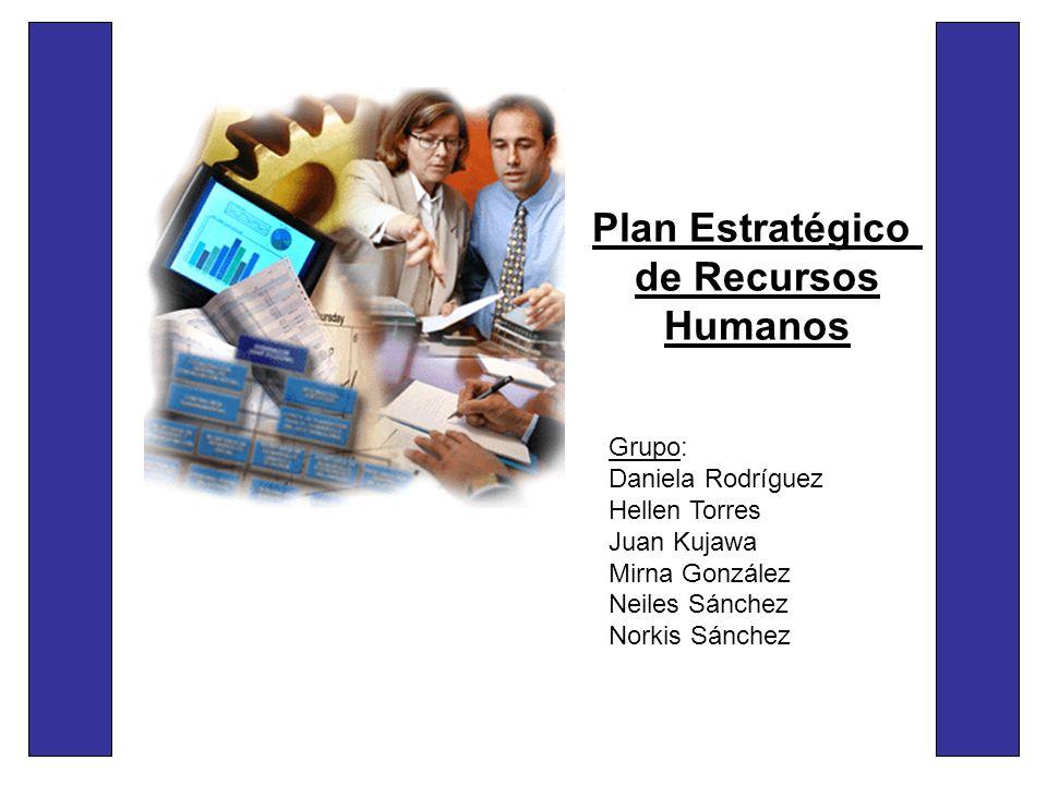 Plan Estratégico de Recursos Humanos Grupo: Daniela Rodríguez Hellen Torres Juan Kujawa Mirna González Neiles Sánchez Norkis Sánchez