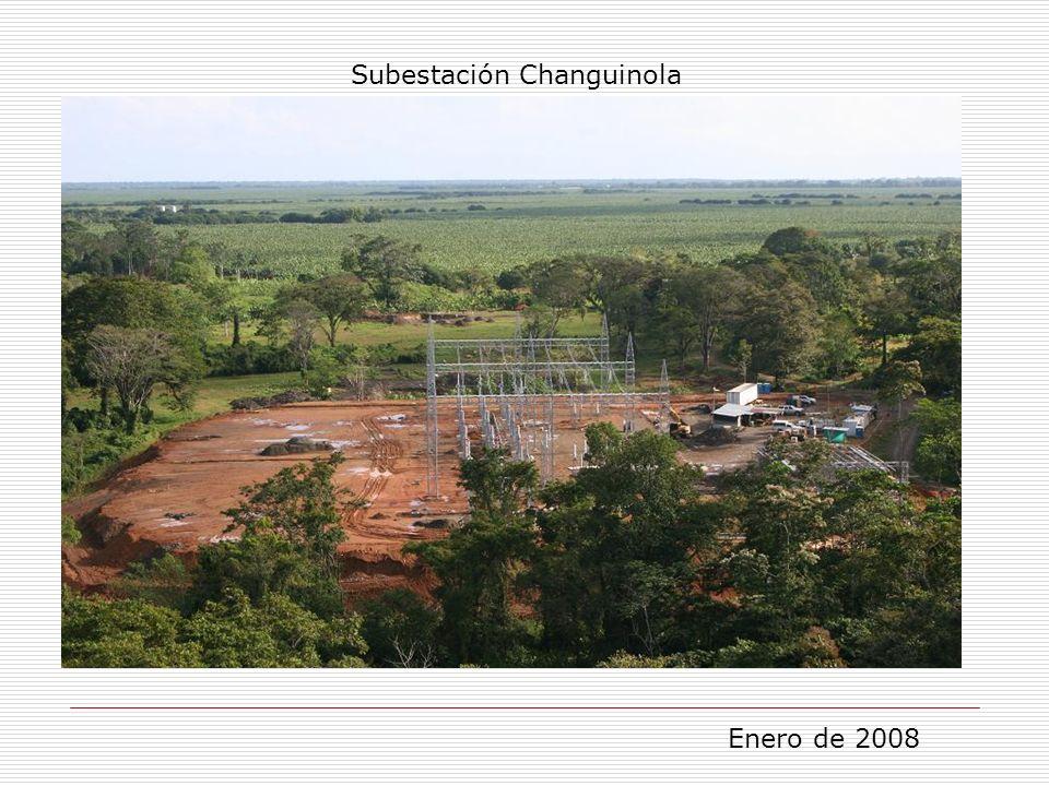 Subestación Changuinola Enero de 2008