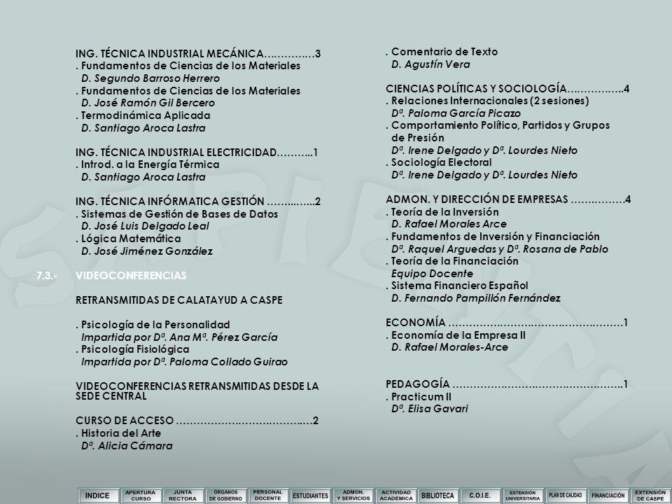 ING. TÉCNICA INDUSTRIAL MECÁNICA……………3. Fundamentos de Ciencias de los Materiales D. Segundo Barroso Herrero. Fundamentos de Ciencias de los Materiale