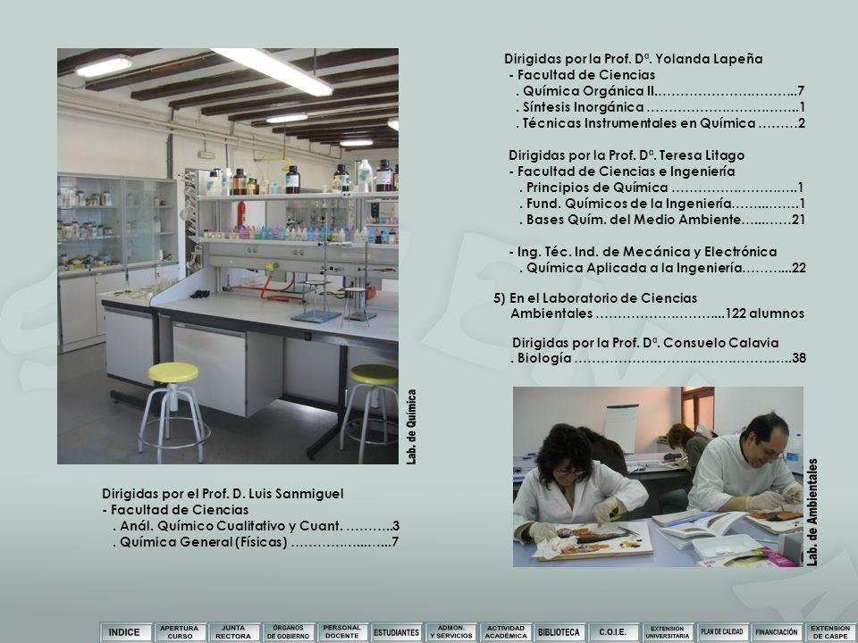 Dirigidas por la Prof. Dª. Yolanda Lapeña - Facultad de Ciencias. Química Orgánica II.…………………………..7. Síntesis Inorgánica ……………………………..1. Técnicas Inst