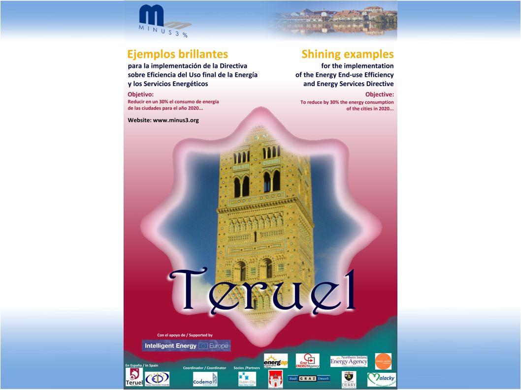 Caso en estudio: la ciudad de Teruel (España) [9/10] Difusión Es este un aspecto de especial relevancia para el proyecto Minus 3%, por las siguientes razones: Es una exigencia propia del programa europeo de Energía Inteligente en el que se enmarca.