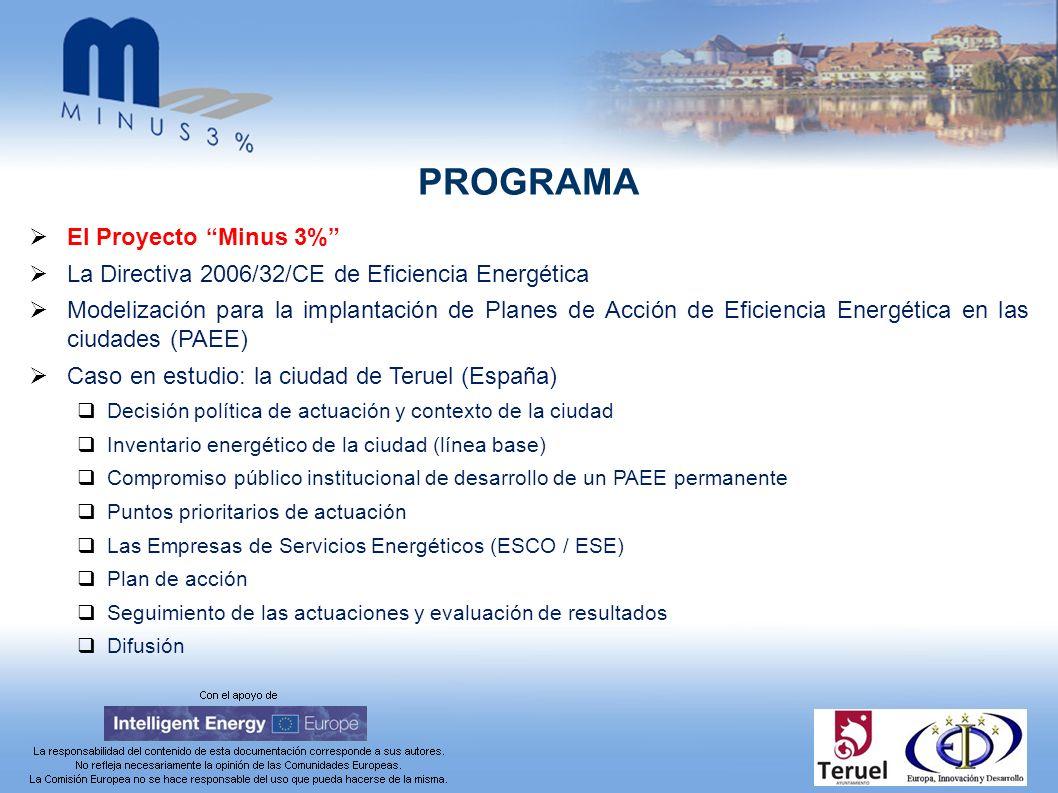 Modelización para la implantación de Planes de Acción de Eficiencia Energética en las ciudades (PAEE) [6/14] Participación de las Empresas de Servicios Energéticos(3/5) Tipos de contrato de rendimiento más comunes (EPC) Ahorros garantizados: la ESE asume el riesgo operativo y el cliente la financiación.