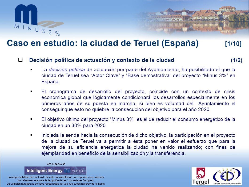 Caso en estudio: la ciudad de Teruel (España) [1/10] Decisión política de actuación y contexto de la ciudad(1/2) La decisión política de actuación por