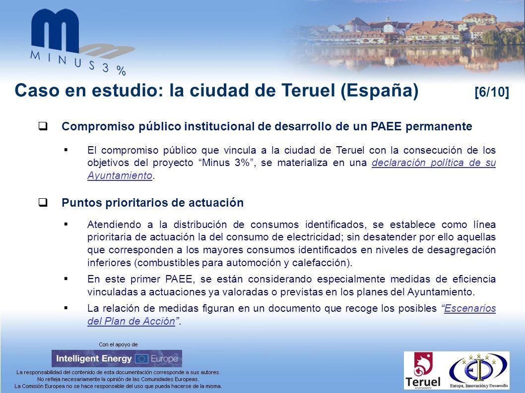 Caso en estudio: la ciudad de Teruel (España) [6/10] Compromiso público institucional de desarrollo de un PAEE permanente El compromiso público que vi