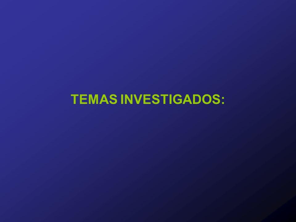 TEMAS INVESTIGADOS: