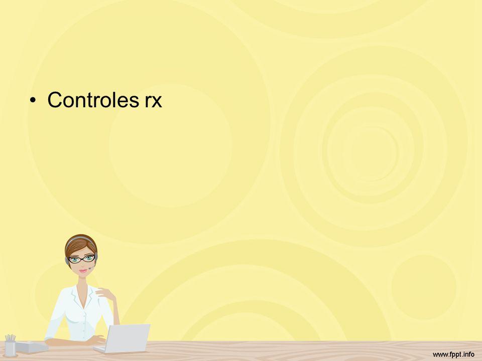 Controles rx