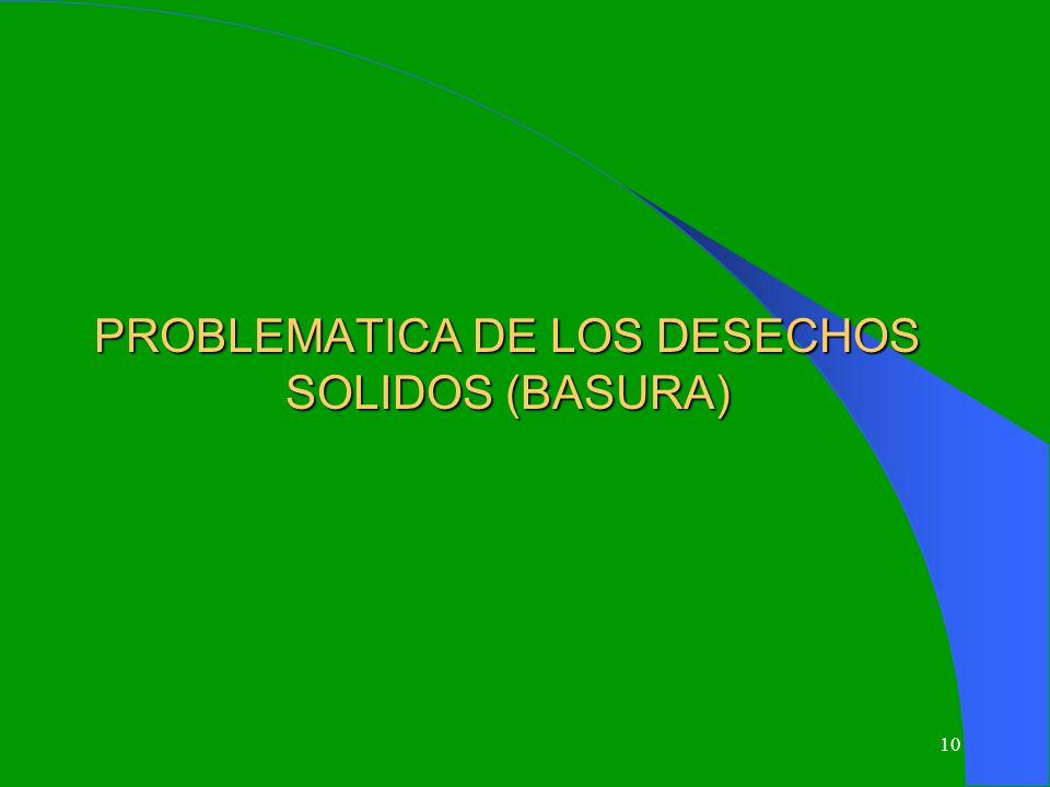 10 PROBLEMATICA DE LOS DESECHOS SOLIDOS (BASURA)
