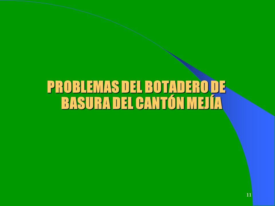 11 PROBLEMAS DEL BOTADERO DE BASURA DEL CANTÓN MEJÍA