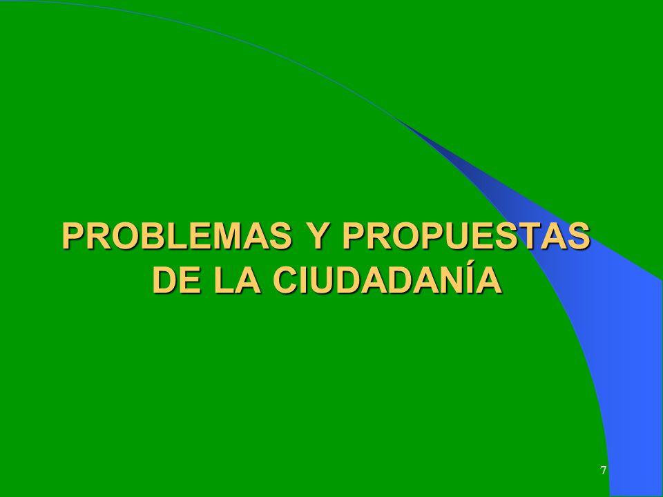 7 PROBLEMAS Y PROPUESTAS DE LA CIUDADANÍA