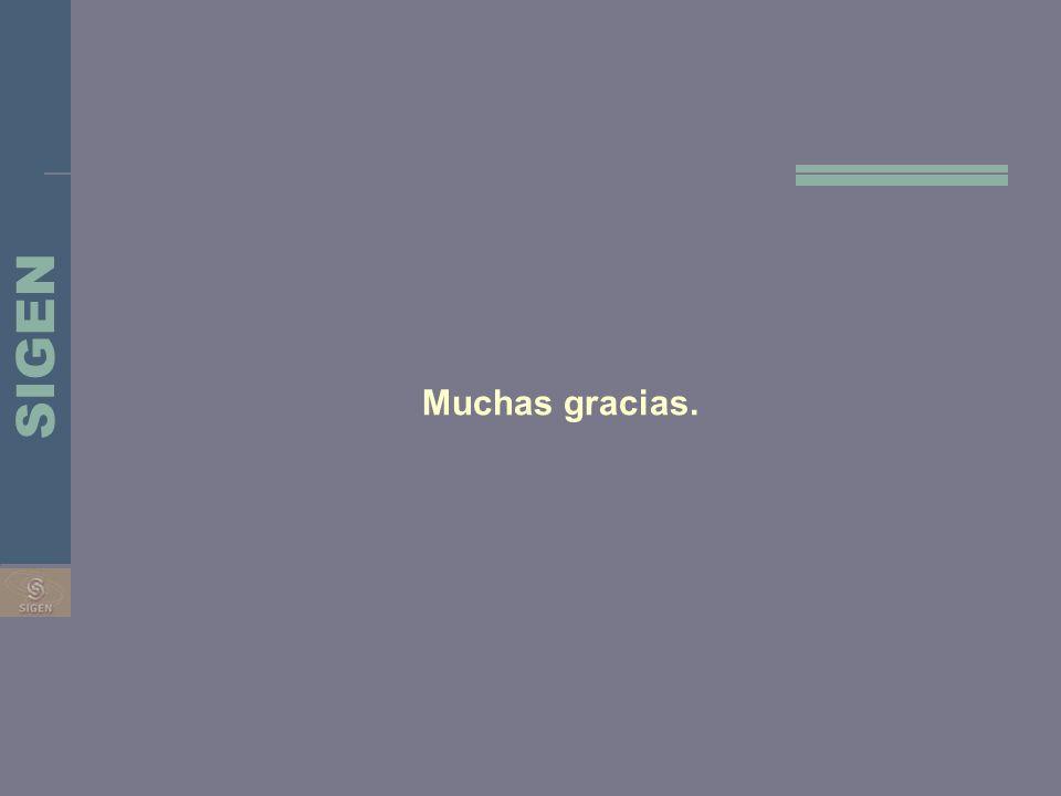Muchas gracias. SIGEN