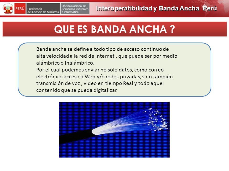 PROGRAMA DE OBRAS 2012 Interoperatibilidad y Banda Ancha Perú El trafico de Internet En el mundo crecerá en 400%, 966.000 millones de gigabytes. El Am