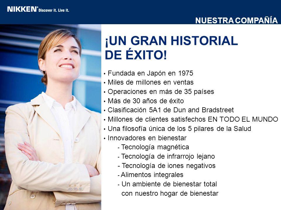 ¡UN GRAN HISTORIAL DE ÉXITO! Fundada en Japón en 1975 Miles de millones en ventas Operaciones en más de 35 países Más de 30 años de éxito Clasificació