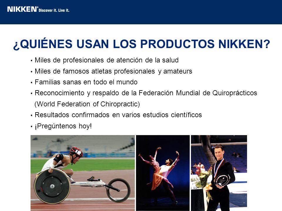 Miles de profesionales de atención de la salud Miles de famosos atletas profesionales y amateurs Familias sanas en todo el mundo Reconocimiento y resp