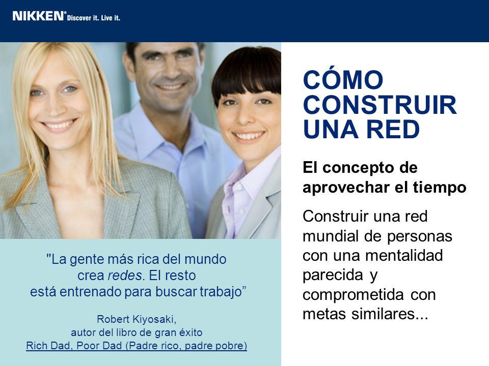 CÓMO CONSTRUIR UNA RED El concepto de aprovechar el tiempo Construir una red mundial de personas con una mentalidad parecida y comprometida con metas