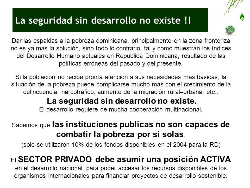 La seguridad sin desarrollo no existe !! Dar las espaldas a la pobreza dominicana, principalmente en la zona fronteriza no es ya más la solución, sino