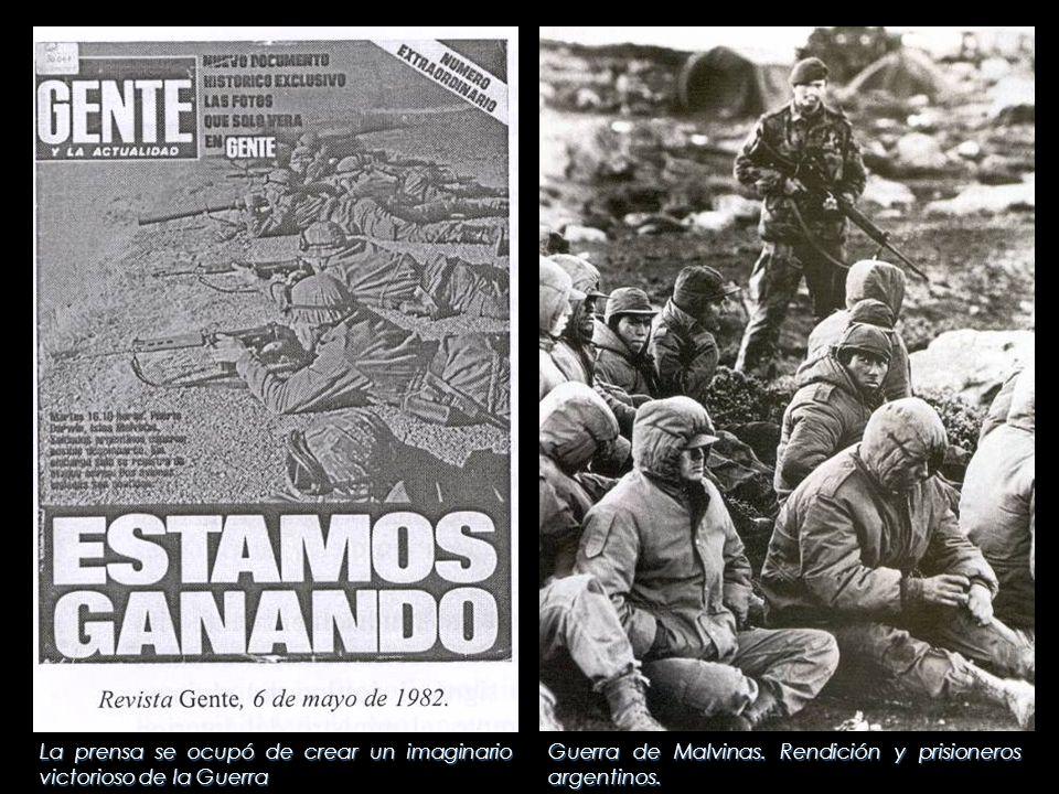 Guerra de Malvinas. Rendición y prisioneros argentinos. La prensa se ocupó de crear un imaginario victorioso de la Guerra