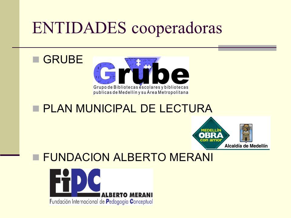 ENTIDADES cooperadoras GRUBE PLAN MUNICIPAL DE LECTURA FUNDACION ALBERTO MERANI
