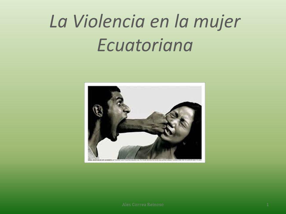 La Violencia en la mujer Ecuatoriana Alex Correa Reinoso1