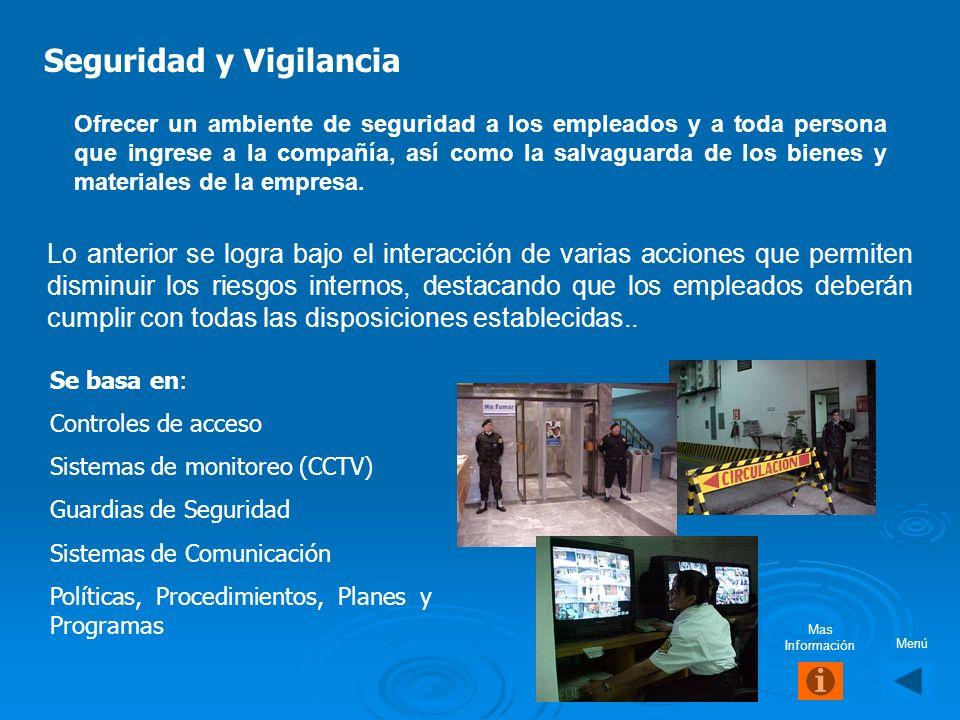 Seguridad y Vigilancia S us funciones se efectúan a través de personal denominado guardia y deberá controlar todo aquello que la empresa establezca co