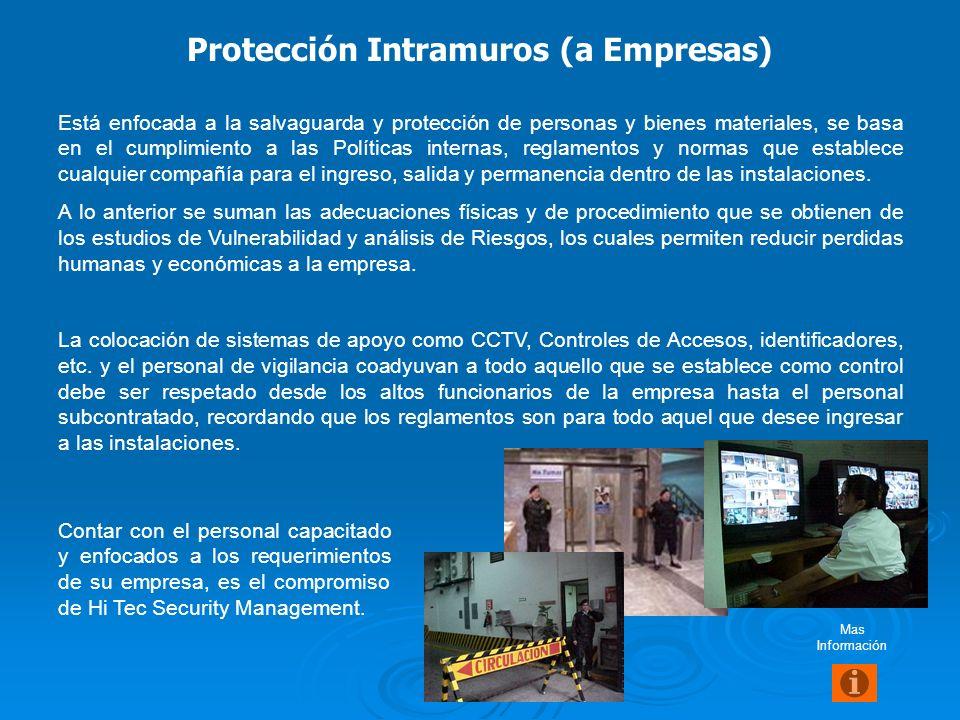 Ofrecer un ambiente de seguridad a los empleados y a toda persona que ingrese a la compañía, así como la salvaguarda de los bienes y materiales de la