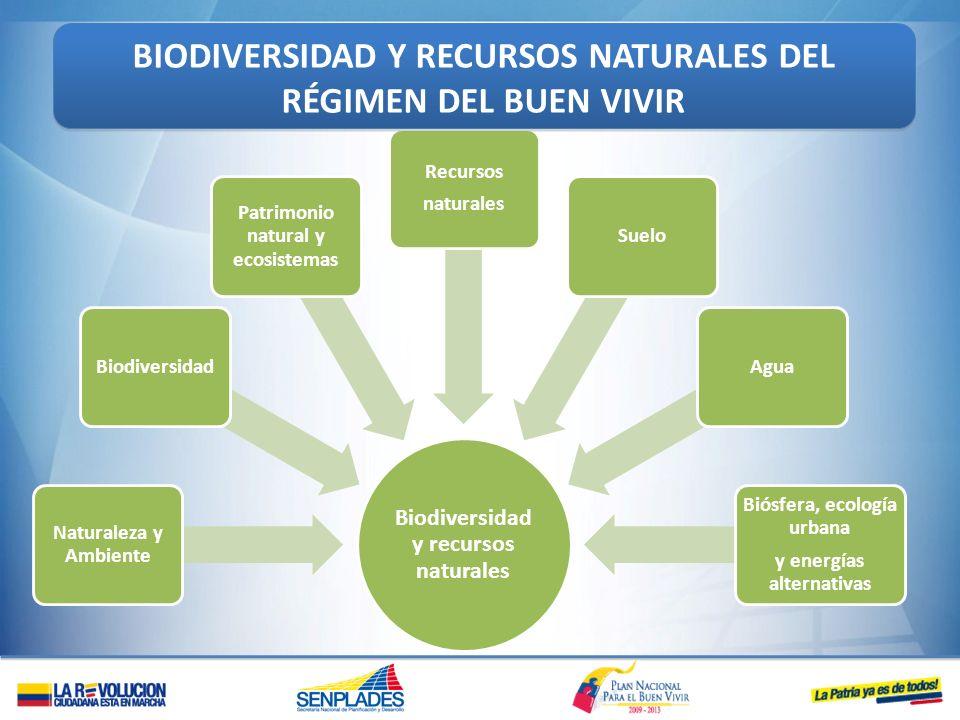 Biodiversidad y recursos naturales Naturaleza y Ambiente Biodiversidad Patrimonio natural y ecosistemas Recursos naturales SueloAgua Biósfera, ecologí