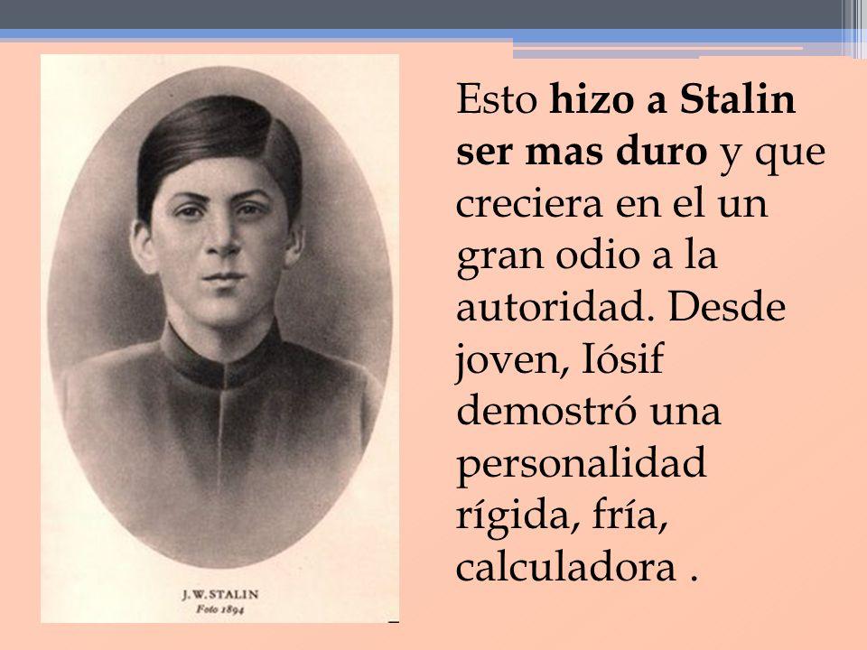 A los 8 años de edad, Iósif comenzó a formarse académicamente en la Escuela parroquial de Gori, en donde demostró mucho interés por la cultura.