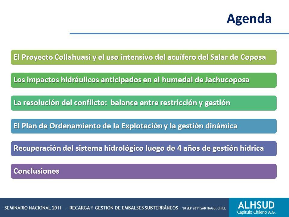 SEMINARIO NACIONAL 2011 – RECARGA Y GESTIÓN DE EMBALSES SUBTERRÁNEOS – 30 SEP 2011 SANTIAGO, CHILE ALHSUD Capítulo Chileno A.G. Agenda El Proyecto Col