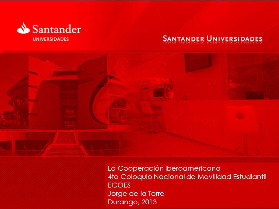 Santander Universidades México Más del 90% de la inversión en RSC está destinado a los programas de apoyo a la educación superior.