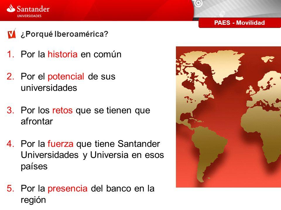PAES - Movilidad ¿Porqué Cooperación Iberoamericana.
