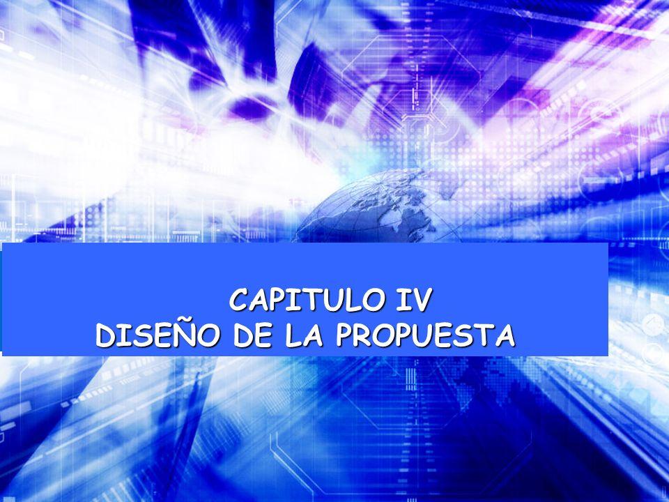 CAPITULO IV DISEÑO DE LA PROPUESTA