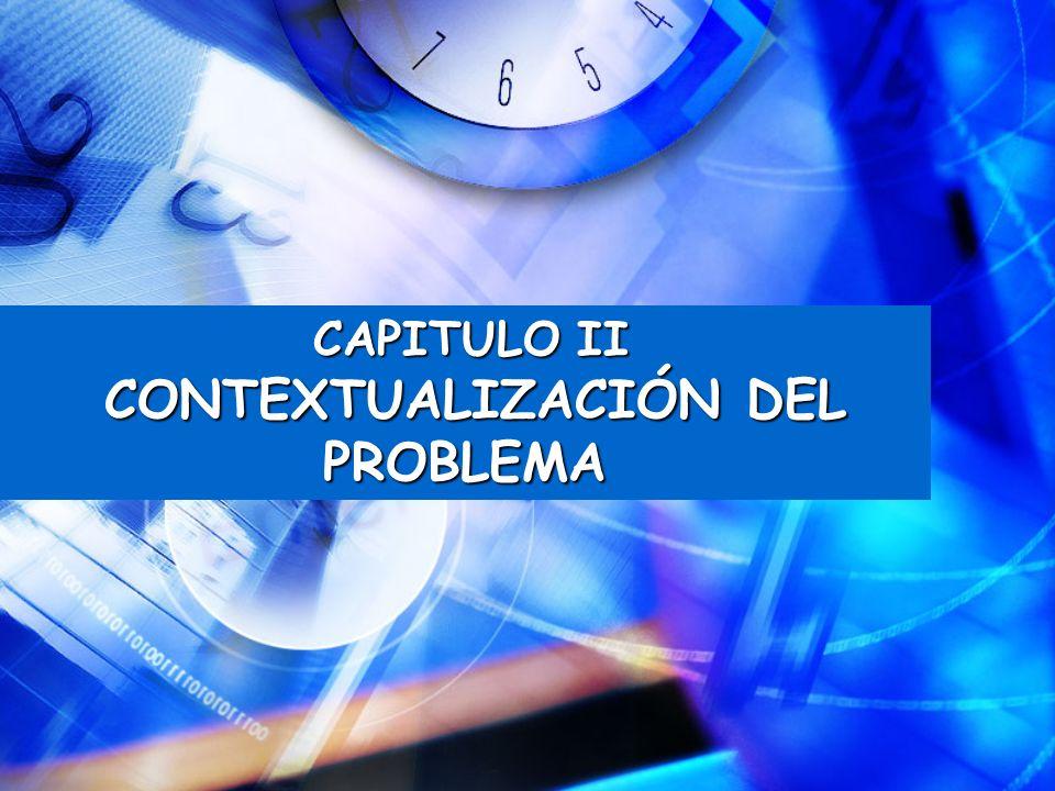 CAPITULO II CONTEXTUALIZACIÓN DEL PROBLEMA CONTEXTUALIZACIÓN DEL PROBLEMA
