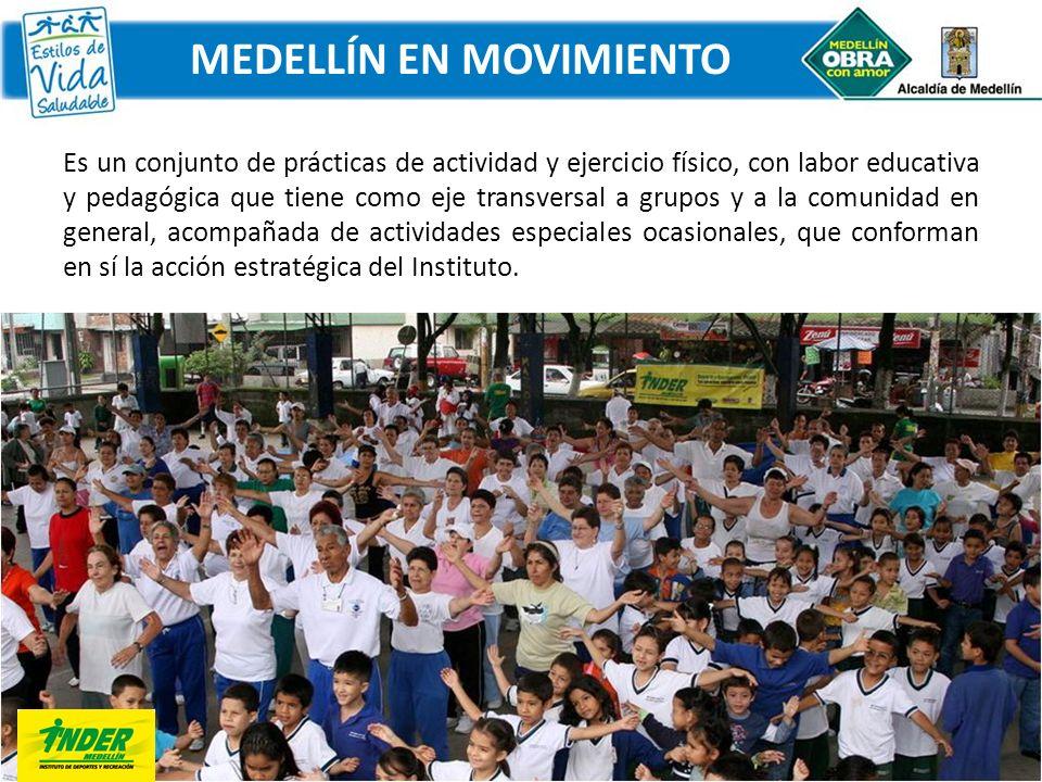 Es un conjunto de prácticas de actividad y ejercicio físico, con labor educativa y pedagógica que tiene como eje transversal a grupos y a la comunidad