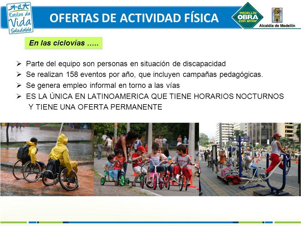 Parte del equipo son personas en situación de discapacidad Se realizan 158 eventos por año, que incluyen campañas pedagógicas. Se genera empleo inform
