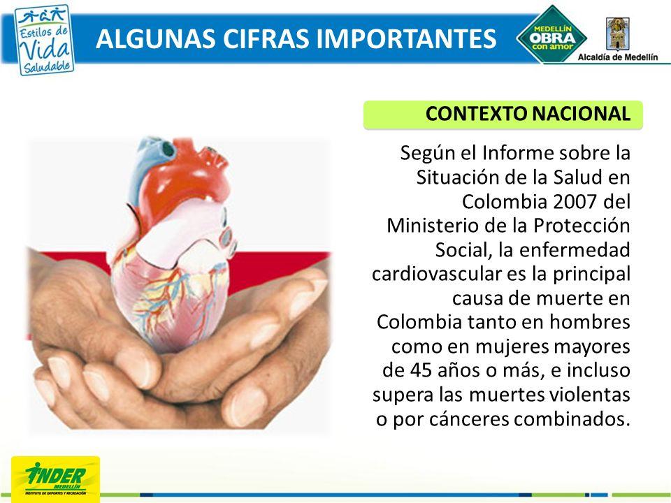 CONTEXTO NACIONAL Según el Informe sobre la Situación de la Salud en Colombia 2007 del Ministerio de la Protección Social, la enfermedad cardiovascula