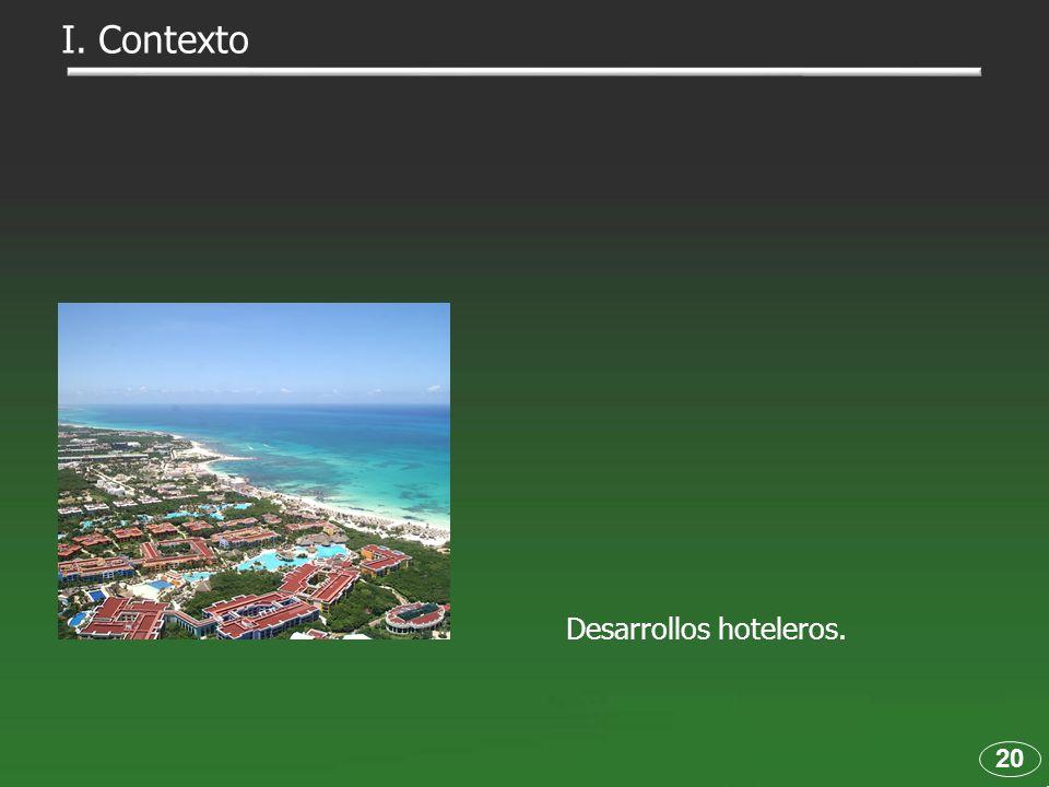 Desarrollos hoteleros. 20 I. Contexto