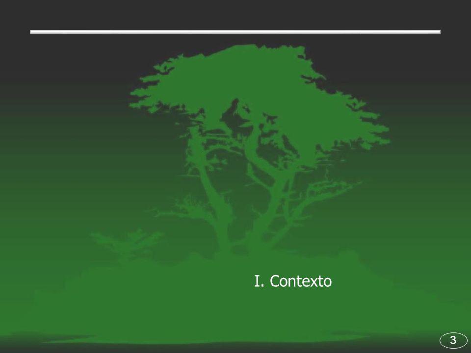 14 Situación de los ecosistemas de manglar.