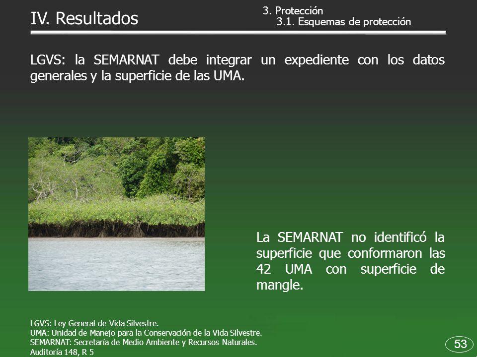 3.1. Esquemas de protección LGVS: la SEMARNAT debe integrar un expediente con los datos generales y la superficie de las UMA. La SEMARNAT no identific