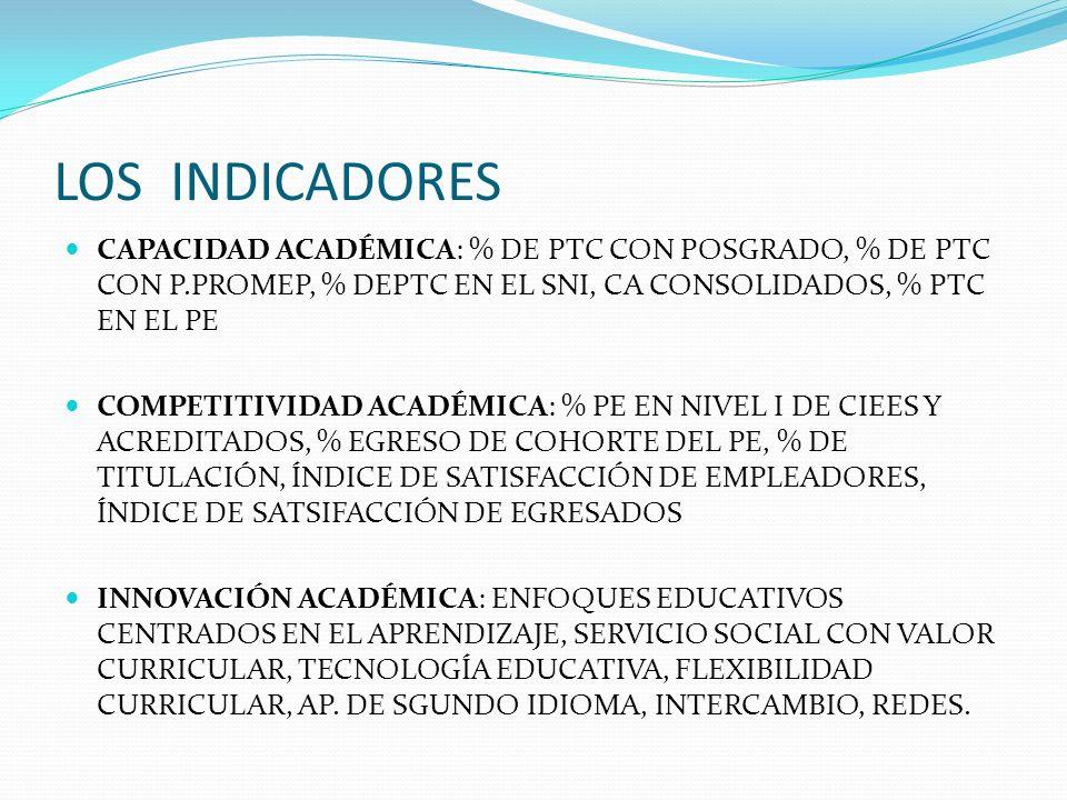 INDICES DE RENDIMIENTO ESCOLAR POR COHORTE GENERACIONAL.