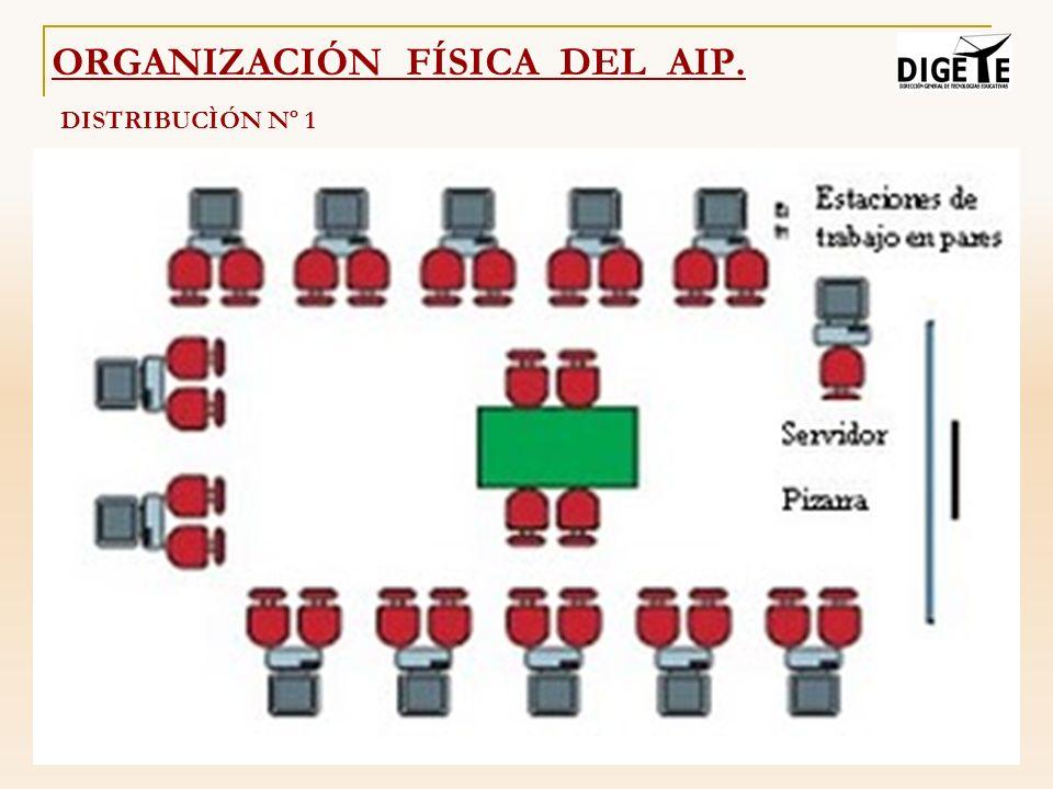 ORGANIZACIÓN FÍSICA DEL AIP. DISTRIBUCÌÓN Nº 1