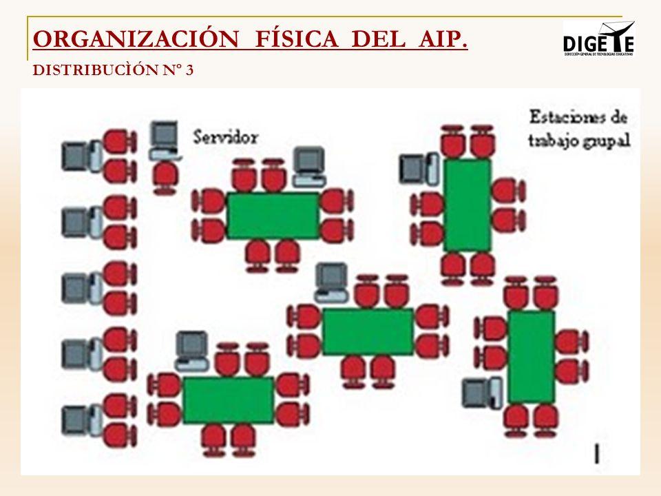 DISTRIBUCÌÓN Nº 3 ORGANIZACIÓN FÍSICA DEL AIP.