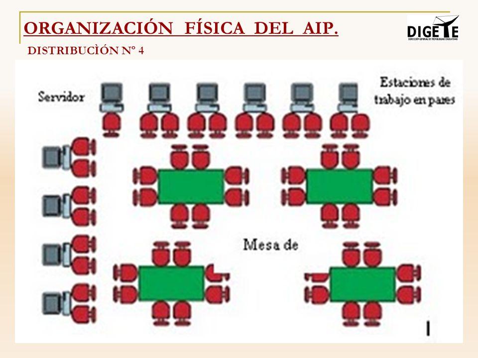DISTRIBUCÌÓN Nº 4 ORGANIZACIÓN FÍSICA DEL AIP.