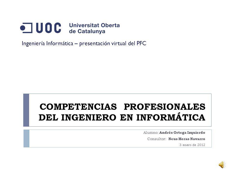 Fin de la presentación virtual Alumno: Andrés Ortega Izquierdo Consultor: Neus Heras Navarro 3 enero de 2012 21