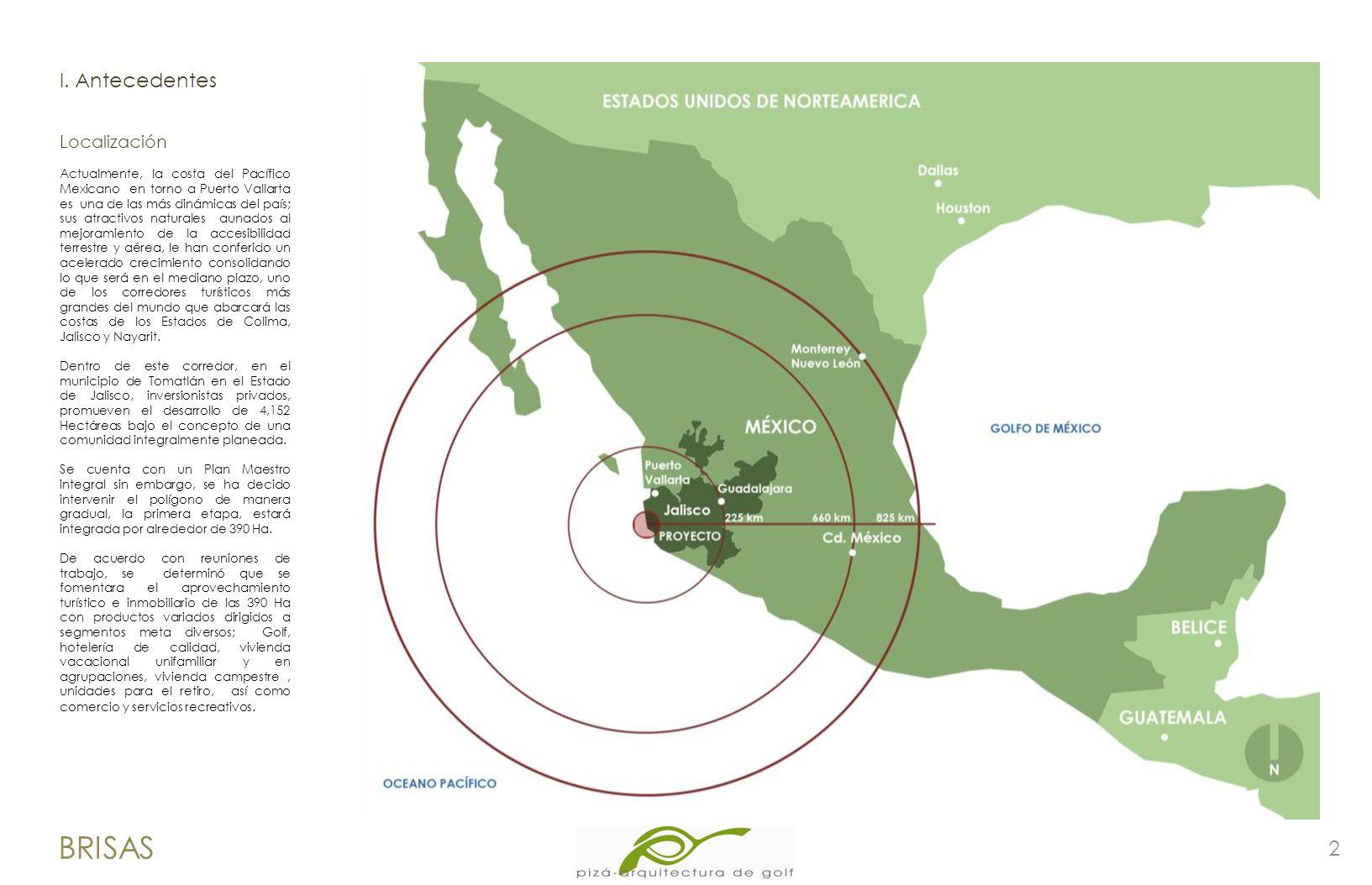 Actualmente, la costa del Pacífico Mexicano en torno a Puerto Vallarta es una de las más dinámicas del país; sus atractivos naturales aunados al mejor