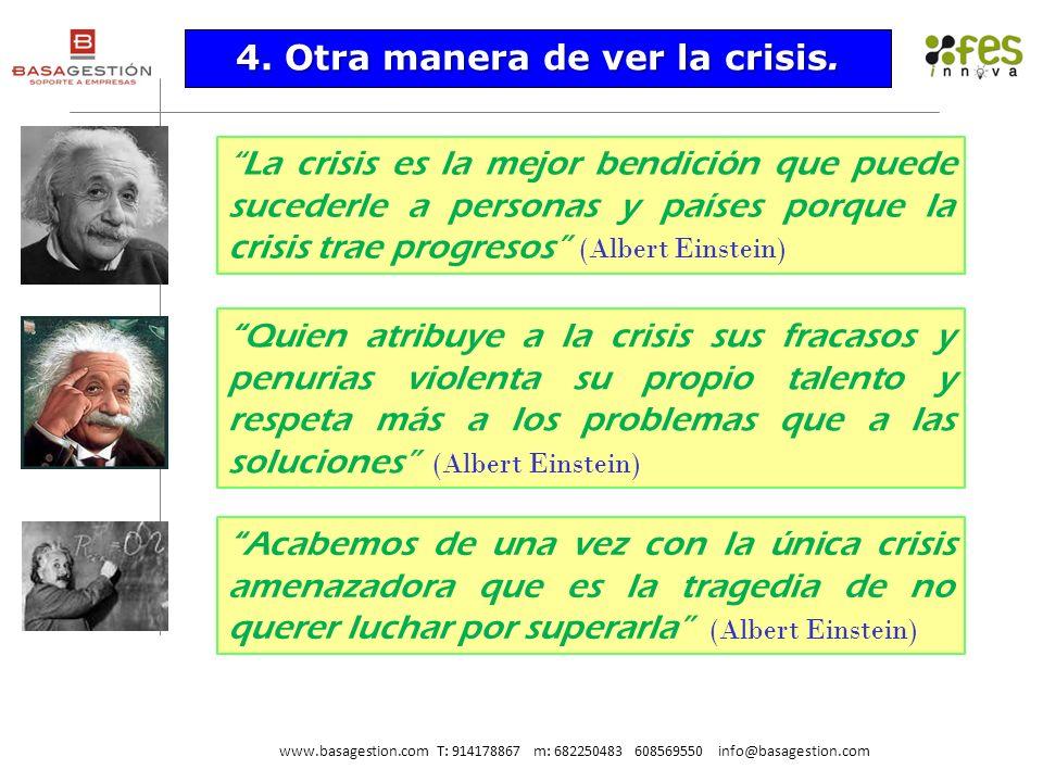 La crisis es la mejor bendición que puede sucederle a personas y países porque la crisis trae progresos (Albert Einstein) Quien atribuye a la crisis s