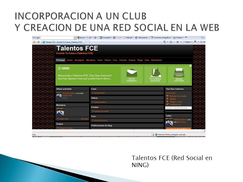 Talentos FCE (Red Social en NING)