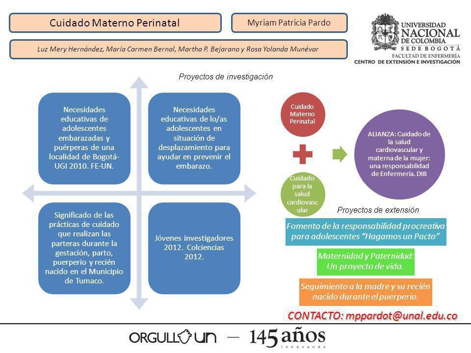 Cuidado Materno Perinatal Myriam Patricia Pardo Luz Mery Hernández, María Carmen Bernal, Martha P. Bejarano y Rosa Yolanda Munévar Necesidades educati