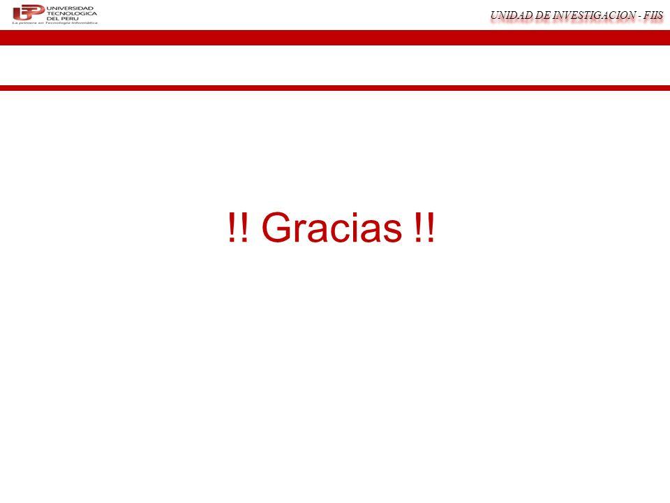 UNIDAD DE INVESTIGACION - FIIS !! Gracias !!
